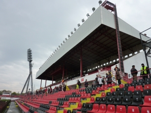 The main stand at the Bozsik stadium