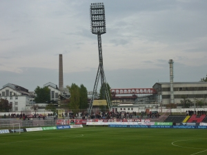 The ground has a seriously impressive set of floodlights.