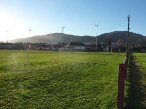 Malvern Town Football Club at the foot of the Malvern hills