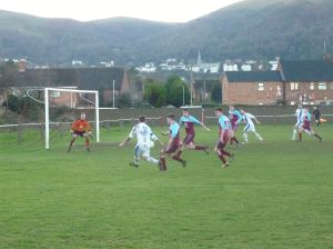 A cross behind the Malvern back line as Lye go hunting for an equaliser