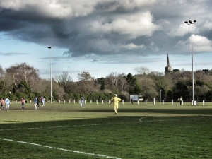 With oppressive looking clouds and the spire of St. Nicholas' church dominating the skyline, Cadbury take to the attack.